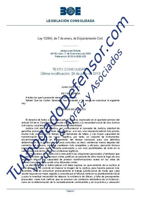 Ley de enjuiciamiento civil | Tuabogadodefensor