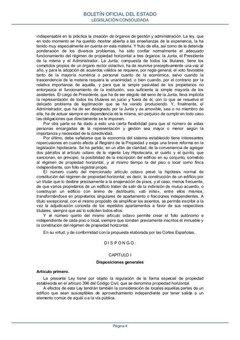 Ley de Propiedad Horizontal BOE a 1960 10906 consolidado