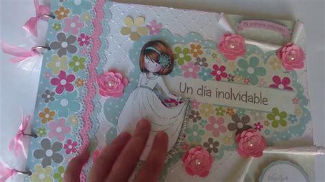 Libro de firmas comunión niña scrapbooking   YouTube