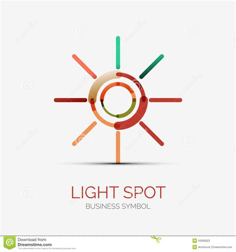 Light Spot Icon Company Logo, Business Concept Stock ...