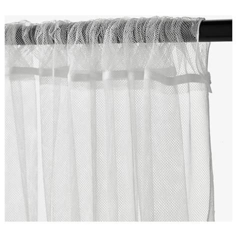 LILL Net curtains, 1 pair White 280x250 cm   IKEA