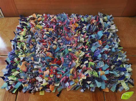 limpia pies / mini alfombra hecho de ropa y tela reciclada ...
