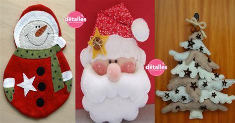 Lindos adornos de Navidad con fieltro  incluyen moldes ...