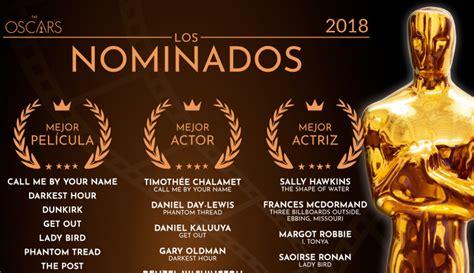 Lista de nominados de los Premios Oscar 2018 • Entretengo