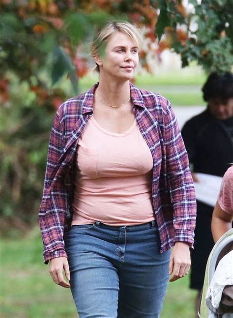 Looks like Charlize Theron put on quite a few pounds for ...