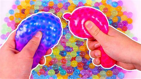 LOS COLORES ???? Con globos llenos de Orbeez   Juegos para ...