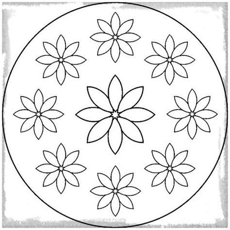 Los Dibujos de Mandalas para Imprimir Faciles   Dibujos de ...