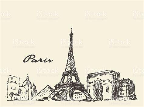 Los Edificios De La Ciudad De París Francia Ilustración De ...