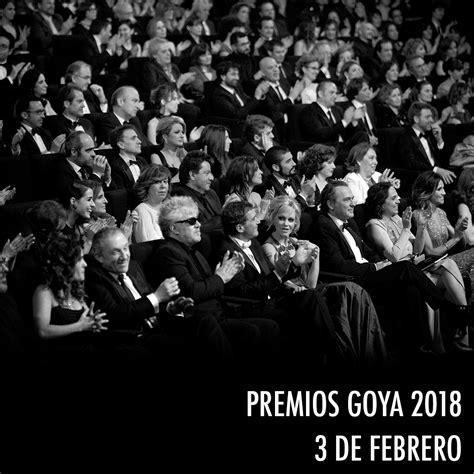 Los Premios Goya 2018 serán el 3 de febrero » Premios Goya ...