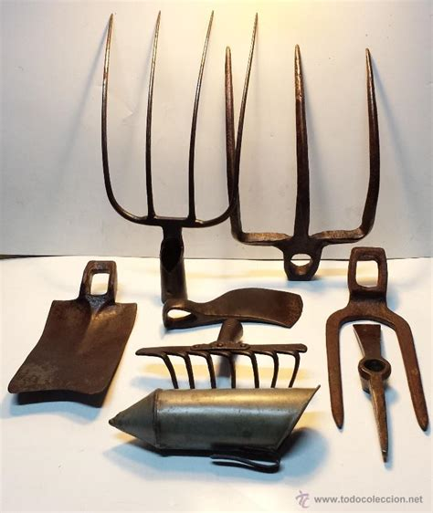 lote 8 herramientas antiguas de forja para camp   Comprar ...