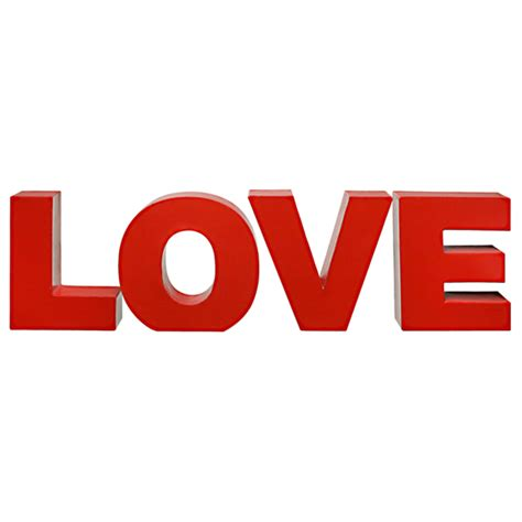 LOVE LETRAS DECORATIVAS   Tok&Stok