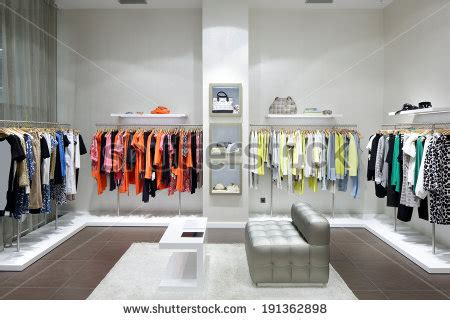 Luxury And Fashionable Brand New Interior Of Cloth Store ...