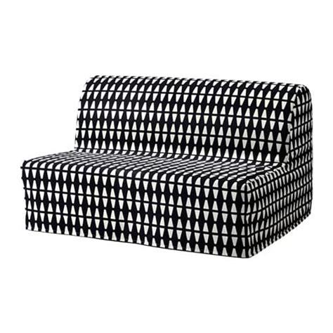 LYCKSELE LÖVÅS Sofá cama 2 plazas   Ebbarp negro/blanco   IKEA