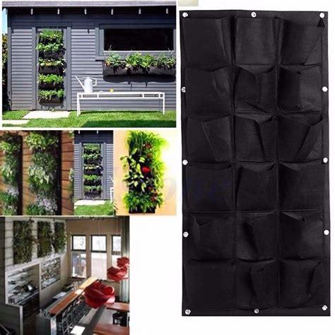Macetas Para Jardín Vertical O Muro Verde De 18 Bolsas ...