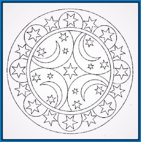 Mandalas Faciles para Colorear Bonitas   Dibujos de Mandalas