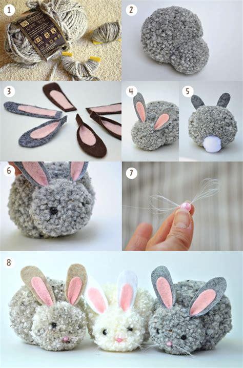 Manualidad: Conejitos de Pascua de pompones DIY