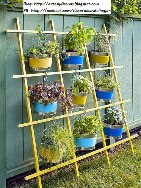 Manualidades con materiales reciclados para el jardin ...