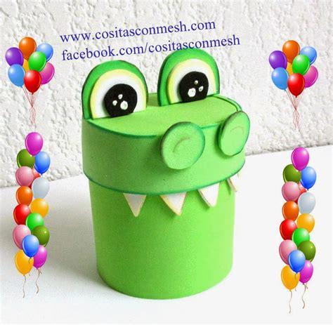Manualidades dulcero cocodrilo reciclaje ~ cositasconmesh
