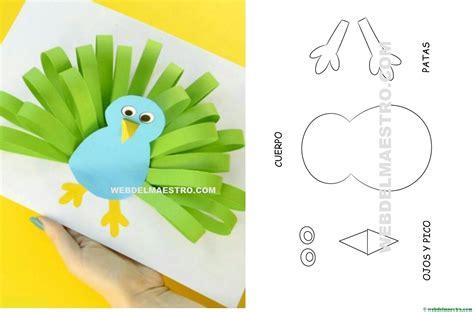 Manualidades infantiles: pavo real de papel   Web del maestro