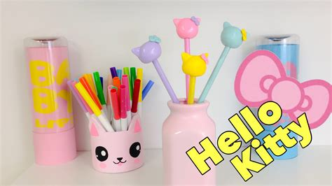 Manualidades KAWAII,como decorar lápices de HELLO KITTY ...