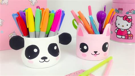Manualidades KAWAII,organizador  ideas para decorar panda ...