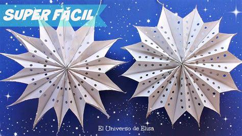 Manualidades Navideñas, Estrellas Gigantes de Papel ...
