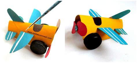 Manualidades para niños avioneta reciclando tubos de papel ...