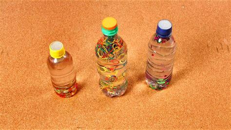 Manualidades para Niños | Botellas divertidas con Ligas de ...