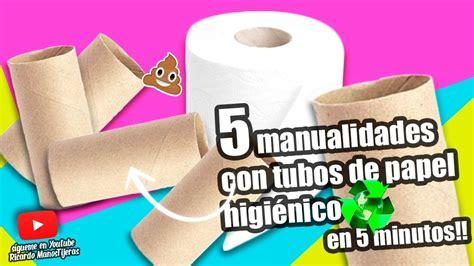 MANUALIDADES RECICLAJE|5 MANUALIDADES CON TUBOS DE PAPEL ...