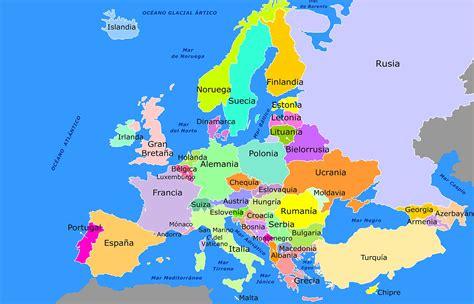 Mapa de Europa para niños   Mapa de Europa