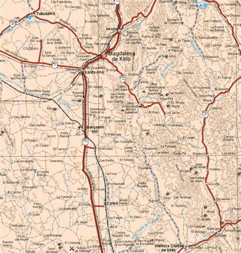 Mapa de Sonora mexico [7]   Mapa de Sonora, Mexico, N.E ...