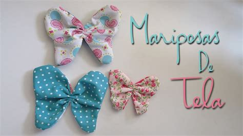 Mariposas hechas con tela   YouTube