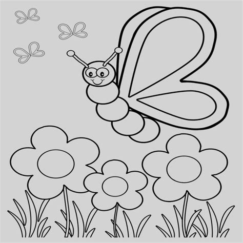 Mariposas Para Colorear Infantiles Sencillas   Mariposas ...