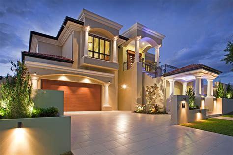 Mediterranean style house build with James Hardi columns ...