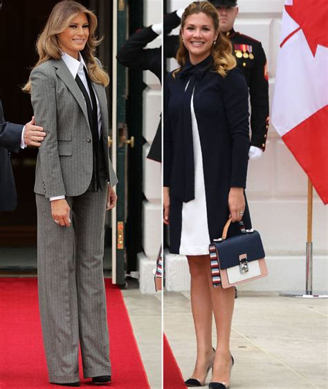Melania Trump vs Sophie Gregoire: Donald Trump and Justin ...