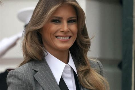 Melania Trumps Wears Menswear Look to Meet With Justin ...