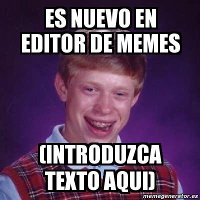 Meme Bad Luck Brian   es nuevo en editor de memes ...