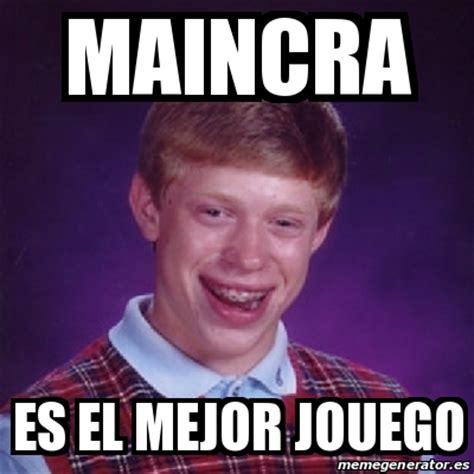 Meme Bad Luck Brian   maincra es el mejor jouego   14925418
