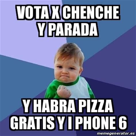 Meme Bebe Exitoso   vota x chenche y parada y habra pizza ...