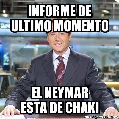 Meme Matias Prats   informe de ultimo momento el neymar ...