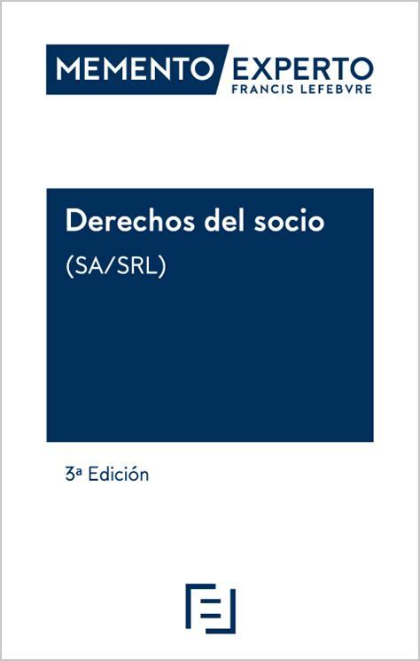 Memento Experto Derechos del Socio  SA/SRL  | Lefebvre El ...