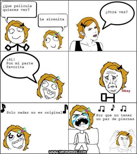 Memes chistosos para el chat de facebook: La Sirenita
