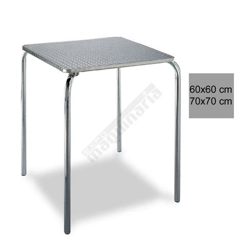 Mesa bar terraza 3R29ALC inox apilable de aluminio