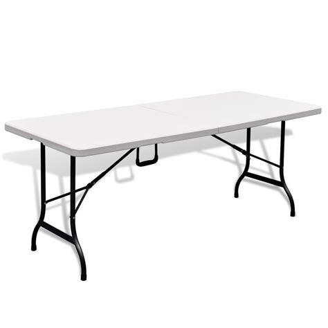 Mesa blanca plegable de jardín, HDPE, 180 cm tienda online ...