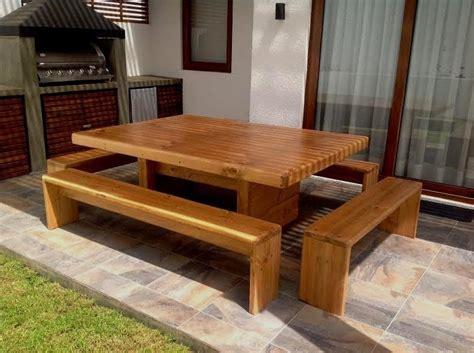 Mesa Con Bancas A Pedido Para Terraza, Quincho O Patio ...