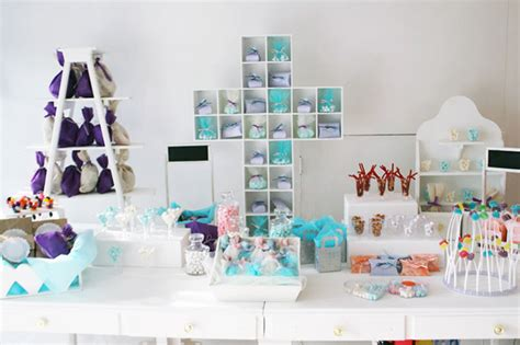 Mesa de dulces para bautizo   Imagui