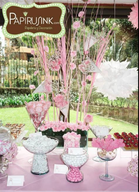 mesa de dulces, primera comunión niña, postres, decoración ...