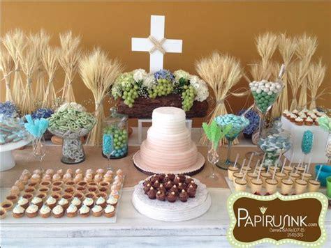 mesa de dulces, primera comunión niño, postres, decoración ...