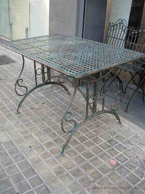 mesa de terraza o jardin de hierro   Comprar Mesas ...