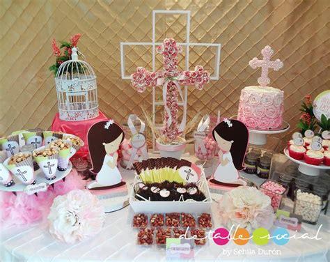 Mesa decorada para comunión | Comunión y confirmación ...